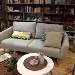 Cosy le canapé, la malle et table basse.