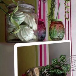 Création par Marion des meringues roses et vertes