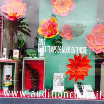 Création des décors et mise en scène des vitrines à Martigues