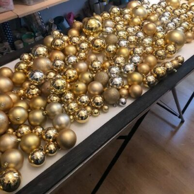 Installationdes boules avant collage