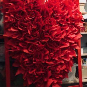 Installation des papiers  rouges